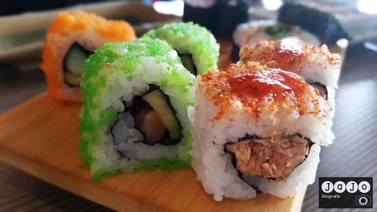 Plankje sushi in Assen