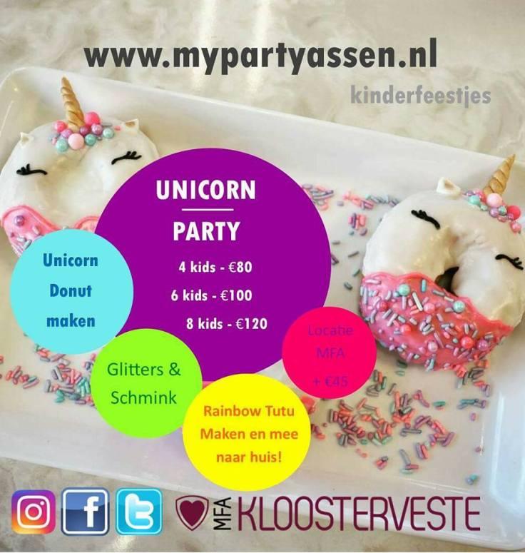 Meisjesfeestje, Thema, Assen, Kloosterveen