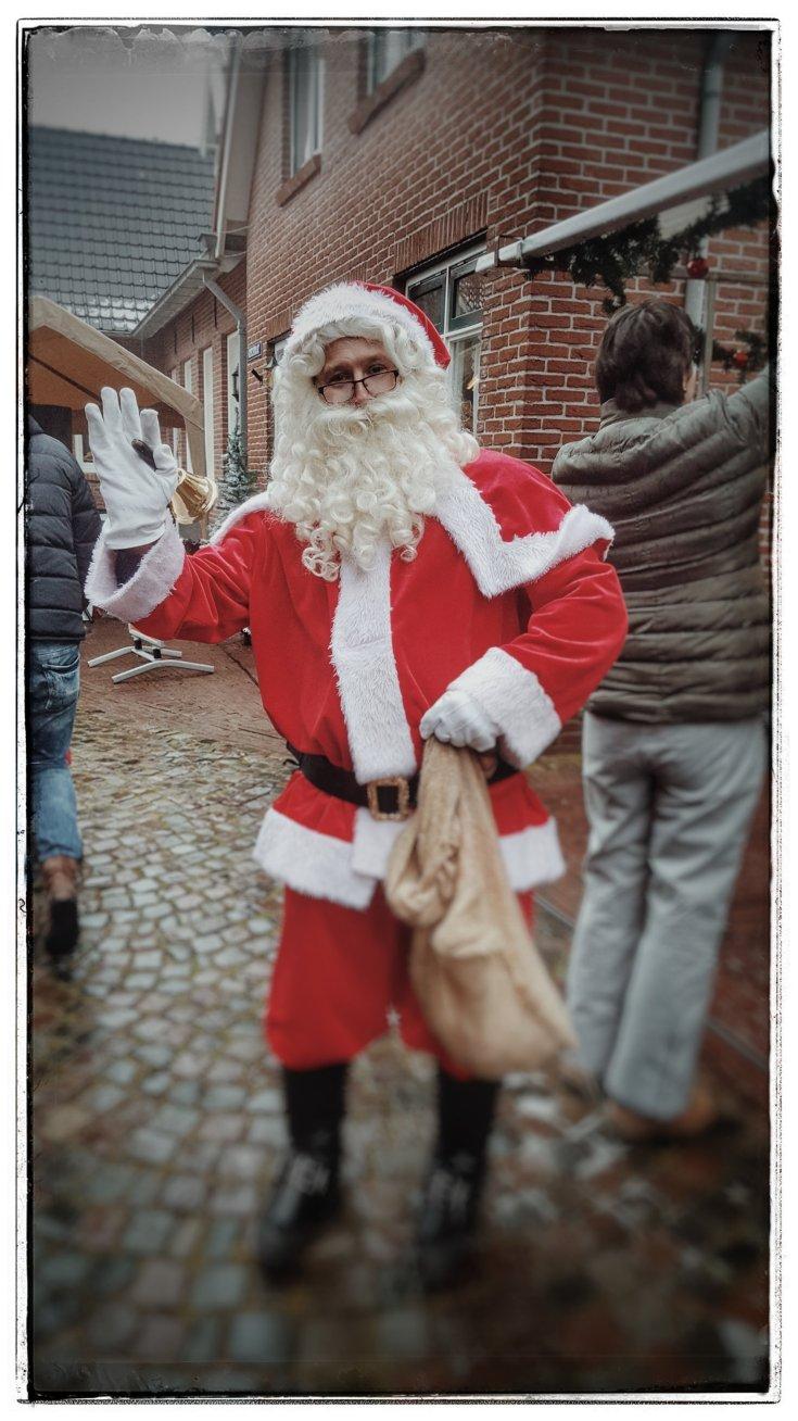 Kerstman, kerstmarkt, kerst.