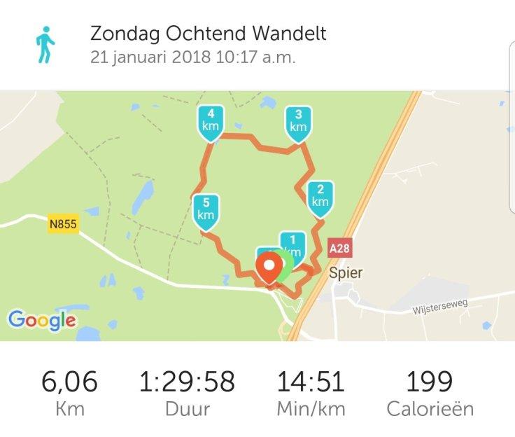 Runkeeper, kilometers, wandelapp