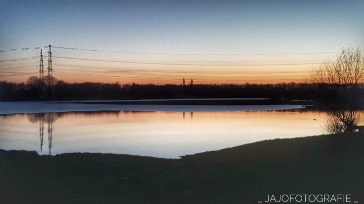 Drenthe, Assen, baggelhuizerplas, sunset