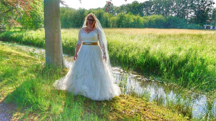 Trouwjurk, Bruid, Bruidsfoto, Huwelijk, Trouwen, Liefde