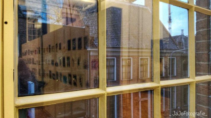 Grid Grafisch Museum Groningen, Raam, Spiegeling, Museum, Museumkaart