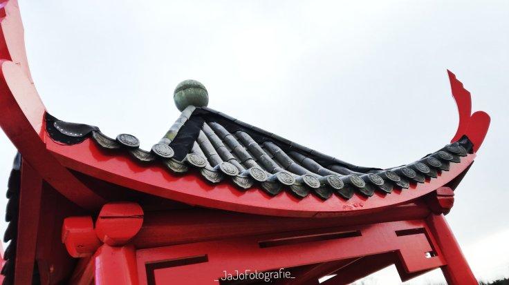 Arboretum Assen, Bomentuin, werelddeel Azië. China, Tempel, wandelroute Assen